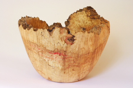 Burl Wood-Spalted Box Elder Vessel